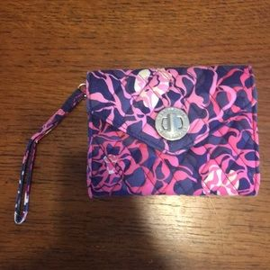 Vera Bradley turn-lock wallet in katalina pink